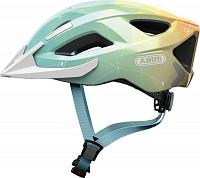 Купить Шлем Aduro 2.0 с LED фонариком и светоотр элемент, L(58-62см) регулир., 325гр, 14 отв, сетка от насекомых, голубой ABUS - СКИДКА 21%., И-0075721