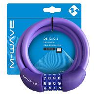 Купить Велозамок M-Wave DS 12.10 S кодовый фиолетовый - СКИДКА 7%., И-0066123