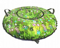 Купить Ватрушка Принт Ooops на зеленом 100см - СКИДКА 21%., И-0063625