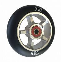 Купить Колесо для трюкового самоката 100мм SUB серебристо-черное, 00-180108., И-0068490