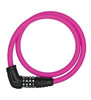 Купить Велозамок тросовый с кодом ABUS Numerino 5412C/85см, трос 12мм, класс защиты 3/15, 300гр, розовый - СКИДКА 14%., И-0074804