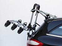 Купить Peruzzo Автобагажник на заднюю дверь FIRENZE, алюм., труба D:30 мм, для 3 в-дов весом до 15кг, шириной колеса 70мм, с изогнутыми полозьями, серый, защитное покрытие, упаковка-коробка - СКИДКА 15%., И-0054659