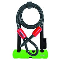 Купить Велозамок ABUS скоба 14мм, ключ,Ultra 410/170HB 230х110мм+трос Cobra 10/120мм с кр, кл.защ.8/1 1000г - СКИДКА 14%., И-0074814