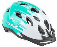 Купить Шлем 8-9090014 с сеточкой Trigger 174 Grn INMOLD подростковый 12отв бело-зелен. 52-56см (10) AUTHOR - СКИДКА 15%., И-0051081