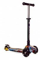 Купить Самокат BLACK AQUA MG025 светящиеся колеса - СКИДКА 17%., И-0066702
