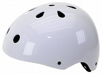 Купить Шлем 5-731183 универс/ВМХ/FREESTYLE 11отв. суперпрочн. 54-58см (10) лакир. белый VENTURA - СКИДКА 13%., И-0050609