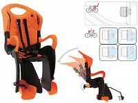 Купить BELLELLI Сидение заднее Tiger Relax B-Fix, чёрно-оранжевое с оранжевой вставкой, до 22кг - СКИДКА 27% + ПОДАРОК., И-0054744