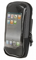 Купить Сумочка/чехол 5-122396 на руль д/смартфона 125х70х20мм б/съемн. вращ. влагозащ. черная M-WAVE - СКИДКА 15%., И-000012625