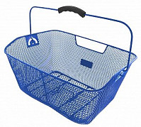 Купить Корзина 5-431614 задняя усил. 41х31х16см сталь на багажник с ручкой синяя M-WAVE - СКИДКА 19%., И-0037658