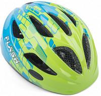Купить Шлем подростковый FLASH 161 GREEN/BLUE INMOLD 51-55см AUTHOR - СКИДКА 10%., И-0046784