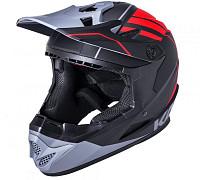 Купить Шлем Full Face KALI Zoka Mat Blk/Red/Gry Y/L 6отв. 52-53см, черн-красн-сер, ABS, 02-10620123 - СКИДКА 25%., И-0066203