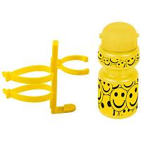 Купить Фляга детская с держателем Ventura 0.3 л желтая смайл., И-0068874