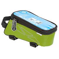 Купить Чехол + бокс M-Wave на раму для смартфона 170х80х80мм влагозащитный черно-зеленый 5-122555 - СКИДКА 15%., И-0038593