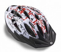Купить Шлем 8-9001373 спорт. с сеточкой Vento 126 Red 17отв. INMOLD красно-белый 58-61см (10) AUTHOR - СКИДКА 35%., И-0024873