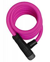 Купить Велозамок тросовый ABUS Primo 5510K/180см SCMU с кроншт, ключ, класс защиты 3/15, 508гр, розовый - СКИДКА 13%., И-0074787