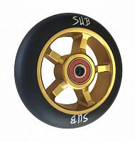 Купить Колесо для трюкового самоката 100мм SUB золотисто-черное, 00-180104., И-0068489