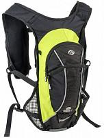 Купить Рюкзак 8-8100290 спорт. TURBO-6 VEST NEW V=6л 430г черно-зеленый + желтый чехол от дождя AUTHOR - СКИДКА 15%., И-0053179