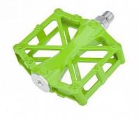 Купить Педали алюминиевый H36 широкие с 2-мя герм. промподш. 92*95*15мм, 420 г зеленые HORST - СКИДКА 4%., И-0053115