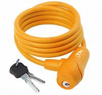 Купить Замок велосипедный противоугонный S 8.15 оранжевый M-WAVE 8х1500мм - СКИДКА 4%., И-0038123