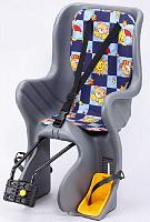 Купить Сиденье детское SF-928LG на подседельную трубу, до 22 кг, серое, 6-639157 - СКИДКА 20% + ПОДАРОК., И-000003467