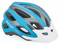 Купить Шлем 8-9001365-66 спорт. с сеточкой Sector 163 18отв. INMOLD сине-серый 54-58см 236г.(10) AUTHOR - СКИДКА 4%., И-0055706