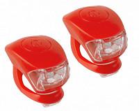 Купить Фонарики 5-220633 COBRA IV перед. 2д/3ф+зад.2д/3ф 24г с батар. красный корпус (20) M-WAVE - СКИДКА 24%., И-0050265