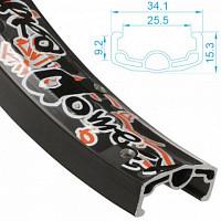 Купить ALEX RIMS Обод SUPRA DOME EX, 20 x26ммх36Н, двойной, чёрный. (ВМХ) - СКИДКА 14%., И-0054935