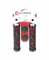 Купить Ручки CLARK`S CLO208 на руль резина/гель паутина 130мм с 2 фиксат. черно-красные., И-000012613