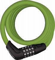 Купить Велозамок кодовый ABUS Numero 5510C/180см, трос 10мм, SCMU с кронштейном, класс защиты 3/15, 500гр, зеленый - СКИДКА 13%., И-0074795