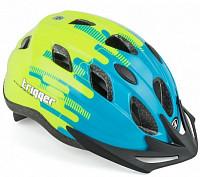 Купить Шлем 8-9090011 с сеточкой Trigger 171Blu INMOLD подрост. 12отв. сине-неон-желтый 52-56см (10) AUTHOR - СКИДКА 15%., И-0051080