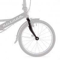 Купить Вилка жесткая сталь шток 110мм резьба 45мм темно-серая для велосипеда Author Simplex 8-00009979 - СКИДКА 15%., И-0074584
