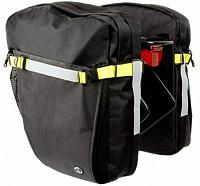 Купить Сумка 8-15000079 на багаж. A-N495 боковая V=12/19л доп. крючки и ремни с плеч. ремнем черная AUTHOR - СКИДКА 14%., И-0043988