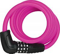 Купить Велозамок кодовый ABUS Numero 5510C/180см, трос 10мм, SCMU с кронштейном, класс защиты 3/15, 500гр, розовый - СКИДКА 13%., И-0074792