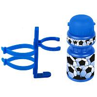 Купить Фляга детская с держателем Ventura 0.3 л синяя футбол - СКИДКА 6%., И-0068873