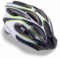 Купить Шлем 8-9001261 спорт. с сеточкой Skiff 141 Grn 14отв. INMOLD зелено-белый 52-58см (10) AUTHOR - СКИДКА 11%., И-0053199