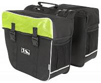 Купить Сумка- штаны на багажник черно-зеленая AMSTERDAM DOUBLE M-WAVE - СКИДКА 20%., И-0034950