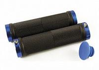 Купить Ручки .CLO201 на руль резиновые 130мм с 2 фиксат. черно-синие анодированный CLARK`S - СКИДКА 27%., И-0049941