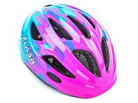 Купить Шлем AUTHOR Flash X8 розовый/голубой INMOLD детский, встроенный мигающий LED фонарик, 11отверстий 51-55см 8-9090137 - СКИДКА 14%., И-0067257